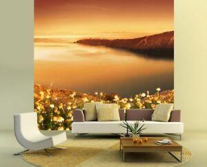 Fototapete Sonnenaufgang über Santorini