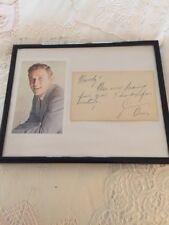 Vintage Jimmy DEAN Picture & Autograph Framed Color Pic