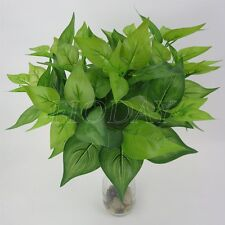 Fake Leaf Artificial Grass Greenery Foliage Green Plant Home Office Decor Craft