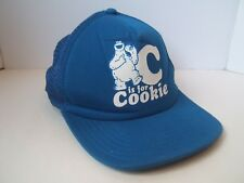 C is For Cookie Monster Sesame Street Hat Blue Snapback Trucker Cap