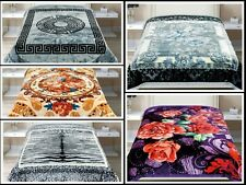 2 Ply Heavy Blanket Soft Thick & Warm Bed throw Double Sided 200 cm X 240 cm