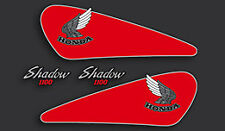 85-86 Honda VT1100C Shadow Decal Set Fuel Gas Tank Side Covers Decals RED/BLK