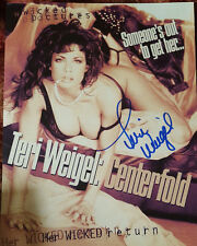 TERI WEIGEL signed CENTERFOLD slick w/ PIC PROOF! Playboy Playmate