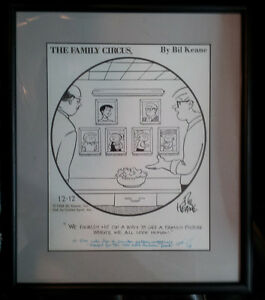 Family Circus framed and signed original artist proof by Bil Keane