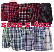 3 6 12 Men's Woven Boxer Shorts Loose Fit Cotton Underwear Fly Pants Lot S - 5XL
