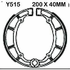 YAMAHA XVS 650 A Drag Star Classic 1998-2007 EBC Rear Brake Shoes Y515