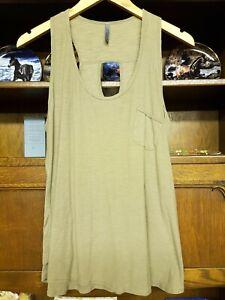 Khaki Sleeveless Top by e-vie Casuals, Size 14