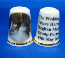 How Proud Diana/'s Two Boys 20yrs On William Harry /& Kate China Thimble B//173