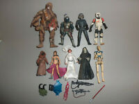 Modern Kenner Star Wars Action Figure and Accessory Weapon Lot H with Boba Fett