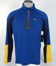 Tommy Hilfiger Athlete Men's 1/4 Zip Pullover Training Shirt Blue 646130314060