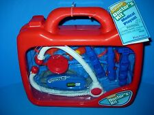 Toy Doctor Play Medical Kit Keenway In See Through Carrying Case NWT