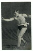 Tommy Burns heavyweight champion boxer ~ boxing ~ vintage 1921 postcard