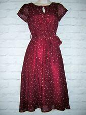 LINDY BOP 1940'S-50'S STYLE  POLKA DOT SWING TEA DRESS SIZE UK 8 NEW
