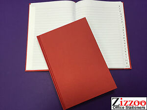 A5 A-Z INDEXED BOOK HARD BACK BOOK FOR ADDRESSES STOCK AND MORE