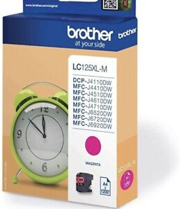 Genuine Unused Brother LC125XL Magenta Ink cartridge  original Brother wrapping