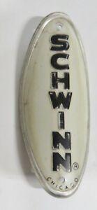Schwinn Head Badge NOS Stingray Krate Cruiser Chicago White and Black