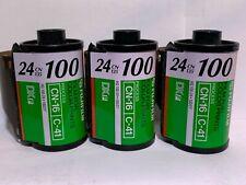 35mm Film Fuji 100 (3 Rolls) C-41 Color Film Super HQ 24 Exposures CN-16