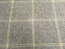 Colefax & Fowler Wool Check Upholstery Fabric Lanark Plaid Grey 1.50 yd F2616-11