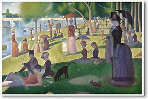 Sunday Afternoon on La Grande Jatte 1886 Georges-Pierre Seurat - NEW Art POSTER