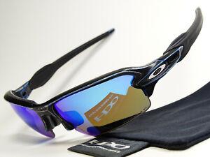 Oakley Flak Jacket 2.0 Raceworn Blue Prizm Polarized Sonnenbrille Fuel Cell Fast
