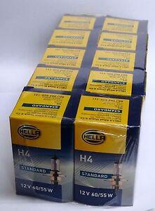 10 Stück Glühlampe H4 12V 60/55W  Hella  PKW