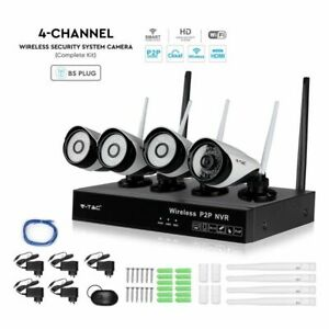 4CH 1080P NVR Wireless CCTV Outdoor Home Security Camera System