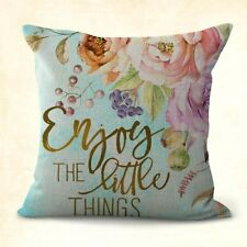 US SELLER, decorative cushion covers enjoy the little things flower