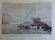 GREECE, Platon sur le cap Sunium , GRABADO ORIGINALDE BOCAGE ,1791