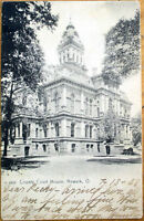 1908 Newark, Ohio OH Postcard: County Court House - Rotograph