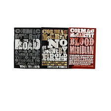 Cormac McCarthy 3 Books Set The Road Blood Meridian & No Country for Old Men
