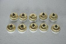10 Pc Vintage Ceramic & Brass Melon Shape Victorian Electric Switches , Germany