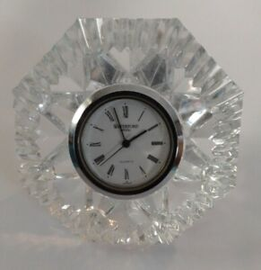 Waterford Crystal Desk Clock Diamond Shaped