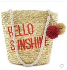 Junk Food Hello Sunshine Mickey Mouse Straw Tote Handbag