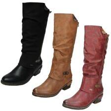 Scarpe da donna stivali al ginocchio Rieker tacco medio ( 3,9-7 cm )