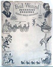 1930s-1970s 19 Stage Show Press Items Acrobats Jugglers Clowns Magic Vaudeville
