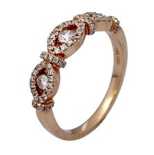 0.55ct Round Diamond Yesterday, Today & Tomorrow 3-Stone Ring in 14K Rose Gold