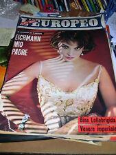L'EUROPEO 16-16 APRILE 1961 - GINA LOLLOBRIGIDA