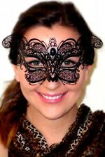 Whiskas Black Cat Mask Whiskers Ladies Italian Metal Lace Comfy OVERNIGHT Post