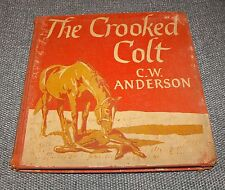 VTG Antique Book The Crooked Colt CW Anderson Horse Story 1954 1st PRINTING Red