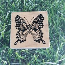 PSX Designs Rubber Stamp Butterfly Wooden Mounted Vintage