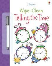 Wipe Clean Telling the Time (Usborne Wipe Clean Books),New Condition