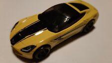 Hot Wheels Mattel 2014 Corvette Stingray Yellow Made in Malaysia 2013