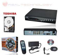 KIT VIDEOSORVEGLIANZA DVR 8 CANALI DDNS 2XUSB/LAN/CONTROLLO WEB+HD 500GB