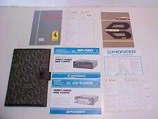 Ferrari BBi 512 Owners Manual_Pouch_Dealer Directory_Pioneer Radio Warranty Book