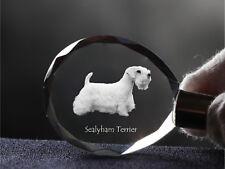 Sealyham Terrier, Dog Crystal Round Keyring, High Quality, Crystal Animals Ca