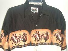 Vtg Cumberland Outfitters XL Cowboy Aztec Button Snap Shirt Western rockabilly