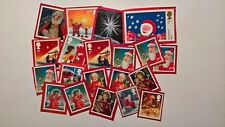 20 UNFRANKED FIRST CLASS CHRISTMAS STAMPS ON RED PAPER