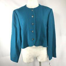 New Old Stock Vintage Size 16 Pendleton Deep Teal Cropped Jacket/Blazer Modern M