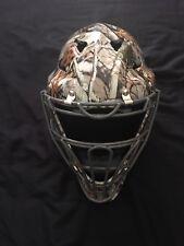 Evan Gattis Signed Full Size Custom Camo Catchers Mask COA