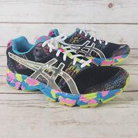 Asics Gel Noosa Tri 8 Black Rainbow Multicolor Hologram Running Shoes Size 5.5